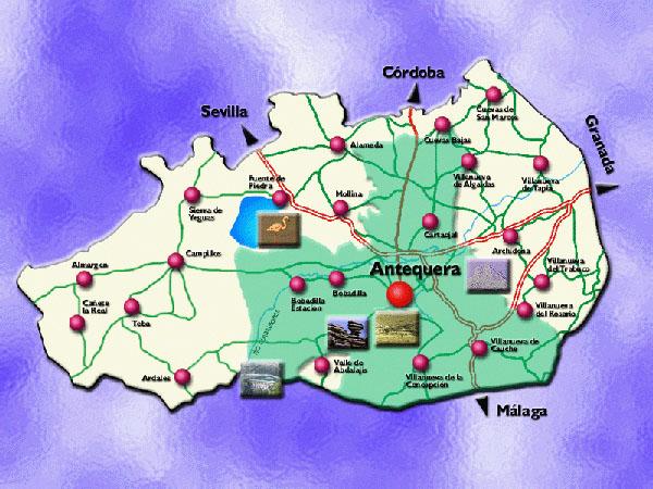 Mapa De Antequera Malaga.Municipio De Antequera
