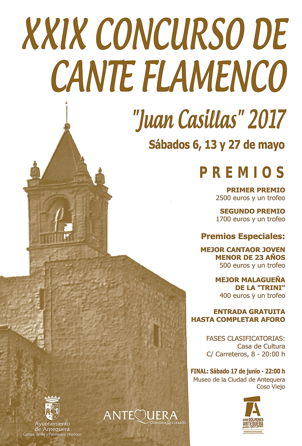 Cartel Concurso Cante Flamenco  Juan Casillas 2017