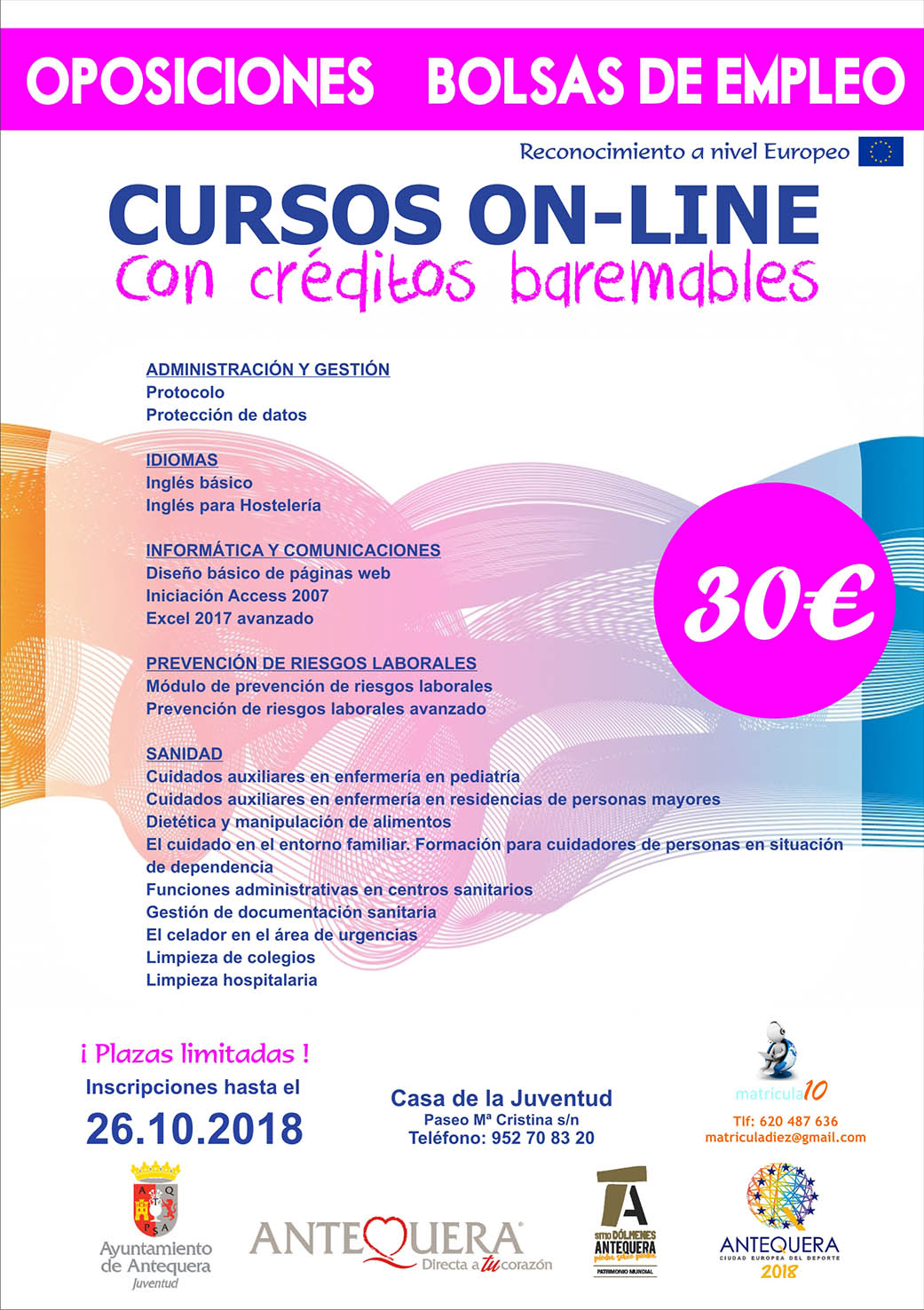 CARTEL MATRICULA 10